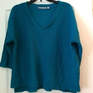Large teal sweater